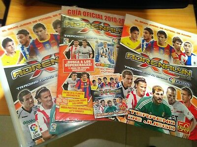 COMPLETE COLLECTION ADRENALYN LIGA BBVA 2010/11 FULL MASTER SET 498 cards