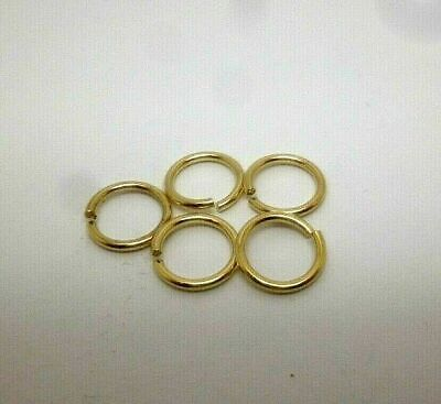 9ct gold yellow gold 7 mm jump ring open jewellery fastener x 5