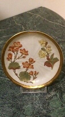 Royal Worcester Floral Plate Antq. Hand Painted Signed c.1890