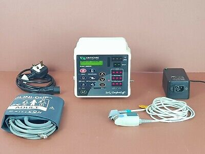 Patient Monitor CSI Criticare 506 SpO2 Comffort Cuff,SpO2,NIBP,New Battery