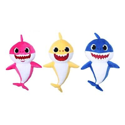 Cartoon PinkFong Plush Fox Sharks Singing Dolls Children Baby Kids Animal Toys