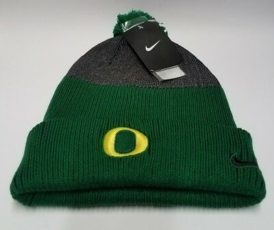 timeless design 753c6 2988d NCAA Nike Oregon Ducks New Day Cuffed Knit Hat with Pom