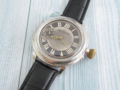 P.MOSER Silver Case Swiss Big Antique Amazing Mechanical Wristwatch Servised