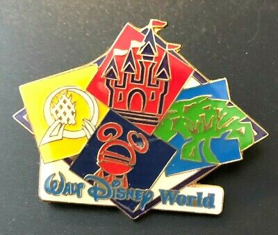 walt disney world trade pin 4 parks animal kingdom epcot magic hollywood studios