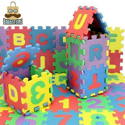 New Unisex Puzzle Kid Educational Toy Alphabet Letters Numeral Foam Mat Big SiRA