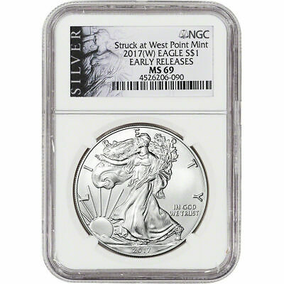2017-(W) American Silver Eagle - NGC MS69 - Early Releases - ALS Label