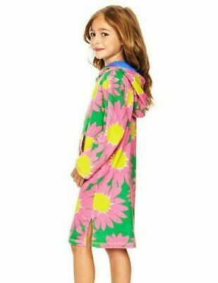 New Mini Boden Pink Floral Cherry BlossomTowelling Beach Dress 9-10 years