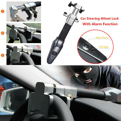Car Steering Wheel Lock Universal Security Truck Anti Theft Safety Alarm Lock 1x