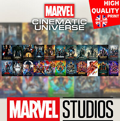 22 Marvel Cinematic Universe Movie 2008-2019 Film Print Art Poster | A4 A3 A2