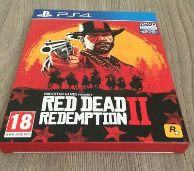 Red Dead Redemption 2 Hard Cover Case PS4 BRAND NEW NO GAME COVER ONLY