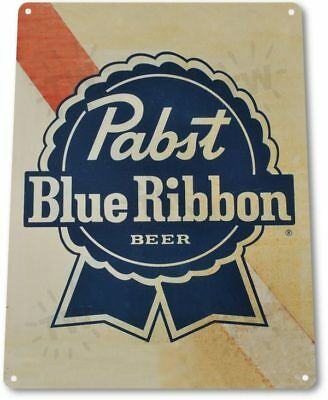 Pabst Beer PBR Logo Retro Vintage Wall Art Decor Bar Man Cave Metal Tin Sign New