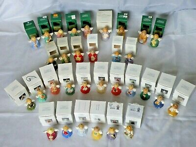 Lot of 32 Goebel Angel Bells Annual Christmas Tree Ornaments Original Boxes