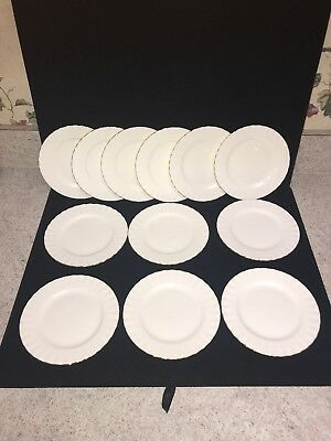 12 Royal Albert White Gold Trim Val D'Or China Salad Plates England (Z47)
