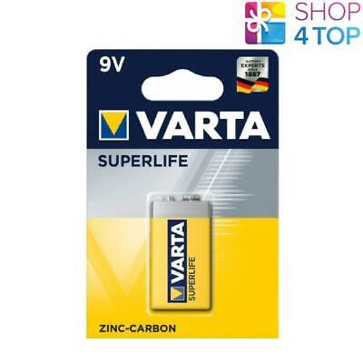 Varta Superlife Zinc-Carbon Power 9V Battery E-Block 2022 6F22 New