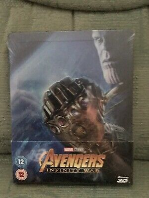 Avengers Infinity War, 3D Blu Ray, Steelbook, New And Sealed