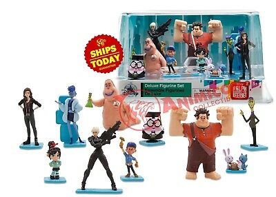 Disney Store RALPH BREAKS THE INTERNET DELUXE FIGURINE SET Wreck Playset 2018