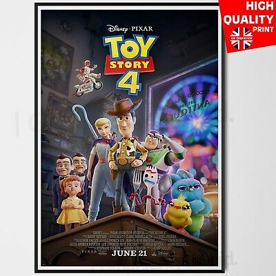 Toy Story 4 2019 Pixar Animated Movie 2019 Tom Hanks Poster   A4 A3 A2 A1  