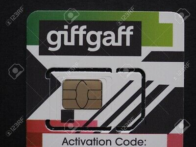 New Giffgaff SIM CARD Nano/Micro/Standard 3 in 1 for Smart Watches and Phones