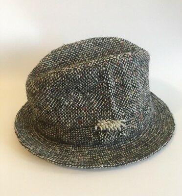 63fa47a1a09be Vintage Donegal Tweed David Hanna   Sons Pure Wool Bucket Men s Hat L.L.  Bean