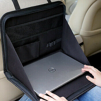 Car Back Seat Folding Table Storage Tidy Durable Organiser Laptop Holder Travel