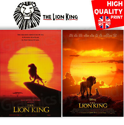 The Lion King 1994/2019 Movie Drama/Adventure/Music Poster | A4 A3 A2 A1 |