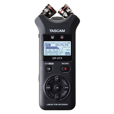Tascam DR-07X Portable Handheld Stereo Recorder and USB Audio Interface