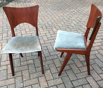 Two Mid Century Modern Chairs MCM Vintage Retro 50's 60's