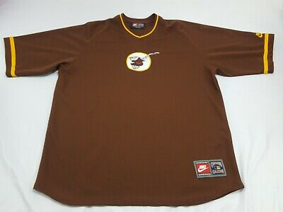 996ea7e05b8a1 San Diego Padres Nike Cooperstown Collection Throwback Jersey Shirt Men s  XL 2