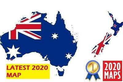 Latest Australia & New Zealand Map 2019 for Garmin GPSs