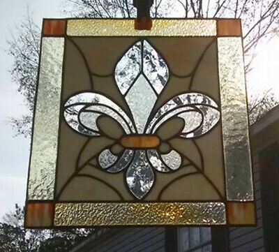 Stained Glass Fluer De Lis *Brand New, Artist Created!* Real Old Bourbon Street