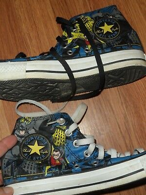 d490af13ca2d men 7 women 9 ~ Converse All star Chuck Taylor high top shoe Batman Robin