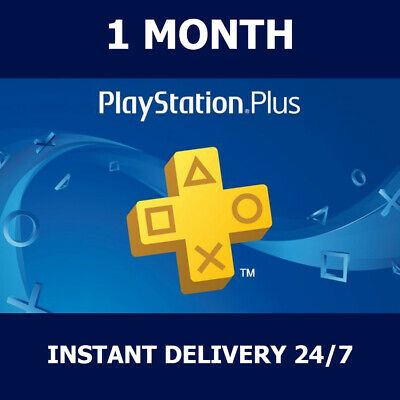 Ps Plus 1 Month  Ps4 Ps3 Ps Vita Playstation