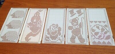 Brother Knitting Machine Pre-Punched Pattern Cards X 10 in Excellent Condition