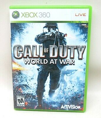 Call of Duty World At War Xbox 360 Video Game Microsoft Activision FPS Complete