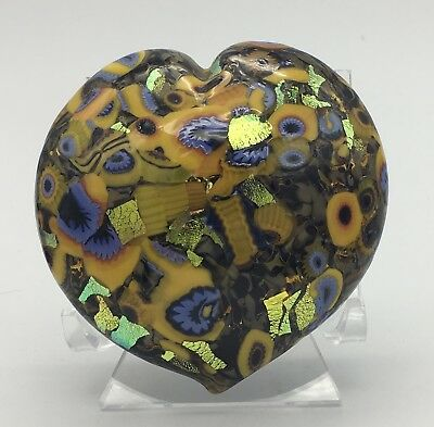 MAD ART Paperweight, Signed, 2009, DICHROIC