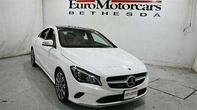 2019 Mercedes-Benz CLA CLA 250 4MATIC Coupe mercedes benz cla 250 used compact sedan 17 19 navigation blind spot lease white