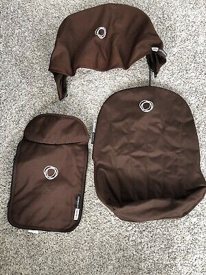 Bugaboo Cameleon Fabric Set Hood Seat Liner & Apron Set Brown