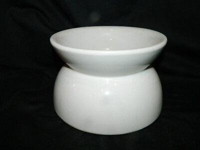 Vintage Homer Laughlin white ceramic spittoon planter chamber pot bowl