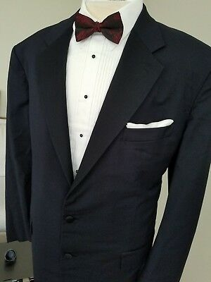 SAINT ANDREWS for BERGDORF GOODMAN 2-BUTTON 2-PIECE Satin Trim TUXEDO Suit - 48L