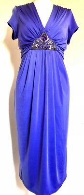 Vintage Style 1920's Dress Gatsby 14 16 Glamorous Hollywood Ruched Dress £59