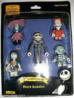 NIGHTMARE BEFORE CHRISTMAS NBX  5 x block-figure 4-6cm Neca