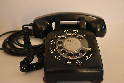 Vintage Western Electric BELL System TELEPHONE Black ROTARY DIAL Desk Phone, #20