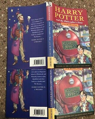 Harry Potter and the Philosophers Stone 1st Edition Hardback Dark Haired Wizard