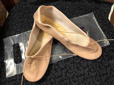 NWT! Freed of London Leather Split Sole Pink Ballet Shoes Women Size 8 Wide