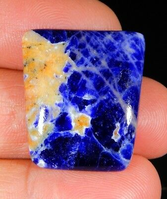 22 Ct Top Natural Antique Red Blue Sodalite Fancy Cabochon Canada Gemstone A84
