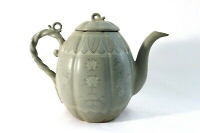 Antique Korean Goryeo Koryo Celadon Porcelain Teapot