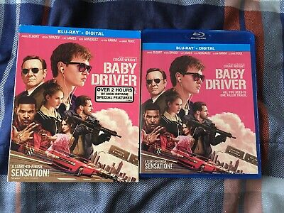 Baby Driver Blu-ray with Slipcover Ansel Elgort