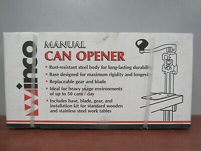 Winco CO-1 Manual Can Opener with Base [34C]