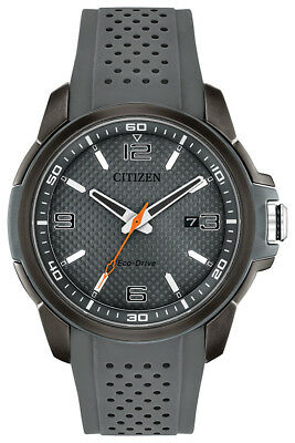 Citizen Eco-Drive Men's Naismith Trophy Grey Poly Strap 45mm Watch AW1157-08H
