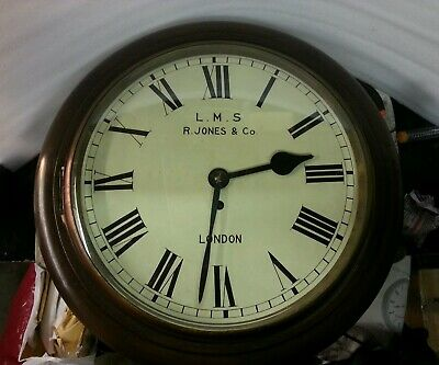 Antique single fusee station clock. LMS.